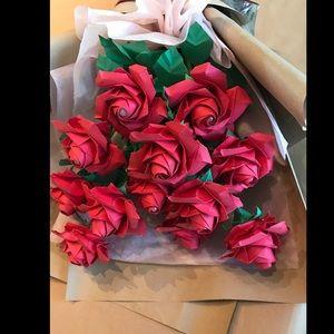 A dozen of paper rose